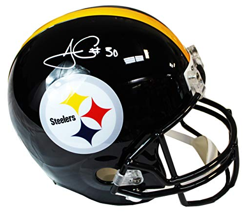 Authentic James Conner Autographed Signed Full Size Pittsburgh Steelers Replica Helmet Beckett Witness - Beckett Authentication