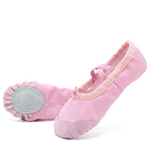 Image of CIOR Ballet Shoes Slippers for Girls Classic Split-Sole Canvas Dance Gymnastics Yoga Flats