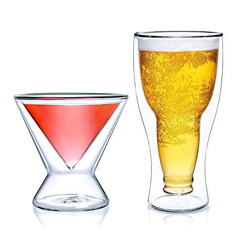 Martini Glasses and Beer Glasses Bundle