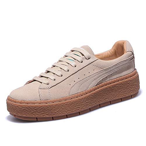 Pelle Spring Accollate E Moda Scarpe Da amp; Yan Sneakers Zeppa Tonda Sportive Di Donna Fall Casual Calzature In Ponte Con wq6fwx7C
