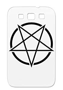 Pagan Suicidal 666 Devil Satan Corpse Paint Headbanger Lucifer Pentagram Rock Metal Sludge Witchcult Metal Evil Hail Church Of Baphomet Antichrist Depressive Death Doom Music Schwarzmetall Dark Black TPU Schwarzmetall Pentagram For Sumsang Galaxy S3 Cover Case