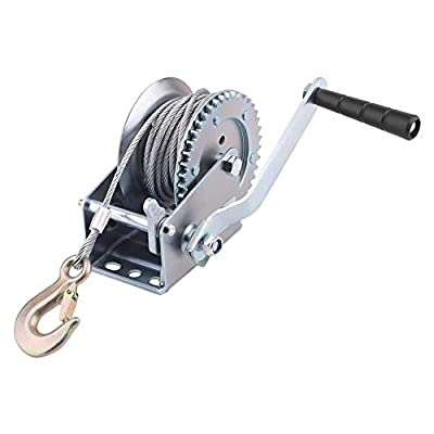 Florenceenid Cable Hand Winch Crank Gear Winch for Boat Trailer Truck Auto Manual Lifting