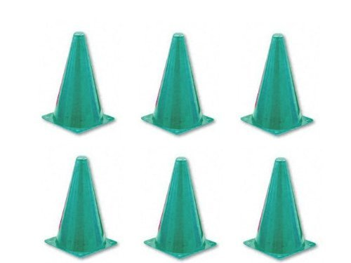 Champion Sports 9 Inch Colored Cones All Green - Set of - Cone Colored