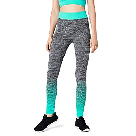 FM London Women's Sportswear set | Crop Top and Leggings Stretch-Fit Gym Wear Set 41REuiveG5L