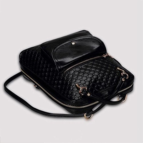 Zaino Zaino 30cm Single Messenger Ms in NERO 17 zaino LIU borsa Shoulder Moda Donna rilievo casuale 5 multifunzionale 12 Dimensioni URqw7Ex
