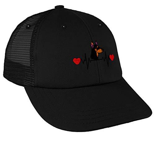 Custom Trucker Hat Richardson Doberman Puppy Embroidery Design