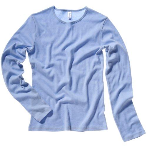 Bella + Canvas Womens/Ladies Baby Rib Long Sleeve Crew Neck T-Shirt (8-10 US) (Baby Blue)
