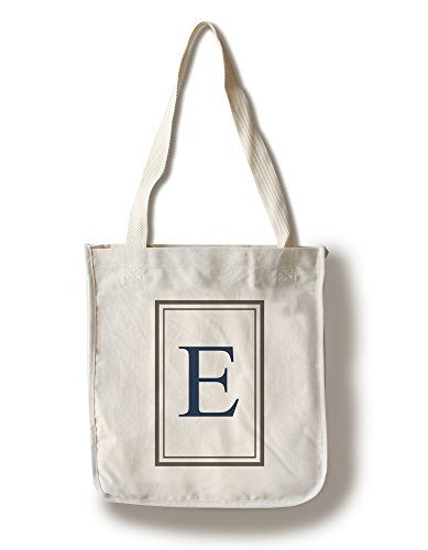 Monogram - Estate - Gray and Blue - E (100% Cotton Tote Bag - Reusable, Gussets, Made in America)
