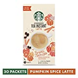 Starbucks VIA Instant Pumpkin Spice Latte, 6 Boxes of 5 (30 Total Packets)