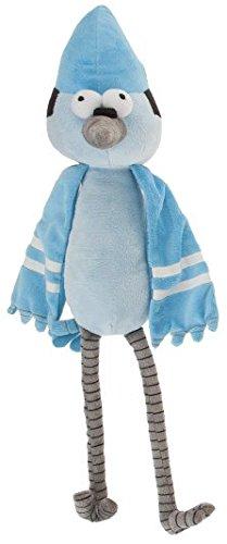 """REGULAR SHOW - Peluche """"Mordecai"""" (pájaro azul sentado 30cm y de pie"""