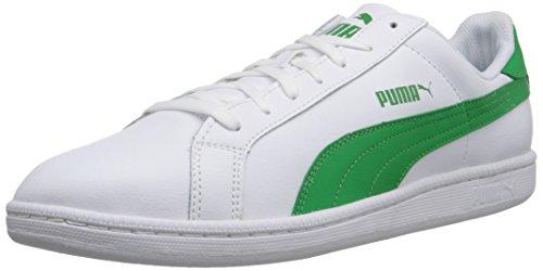 PUMA Men's Smash L Icon Athletic, White/Fern Green, 6.5 D (Puma Icon)