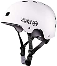 OutdoorMaster Skateboard Helmet - CPSC Certified Lightweight, Low-Profile Skate & Freestyle BMX Helmet wit