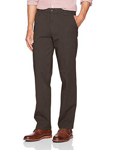 Dockers Men's Straight Fit Workday Khaki Pants with Smart 360 Flex, Olive Brown (Stretch), 32W x 30L