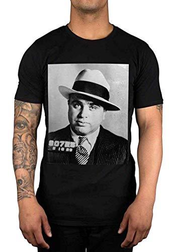- YoungerMan Al Capone Gangster Potrait T-Shirt,Large,Black