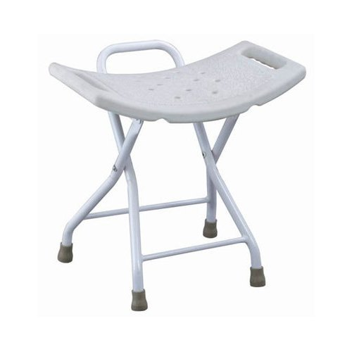 MedMobile Folding Shower Chair with Handles and Drainage Holes