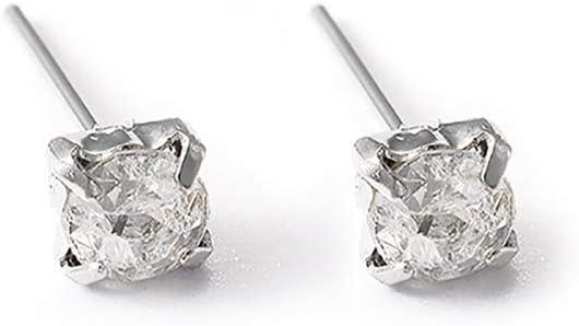 C- Pendientes de botón para Mujer - Pendientes de aleación de Diamante de Destello Pendientes de Garra Diamante Cristal Pendientes de Piedras Preciosas