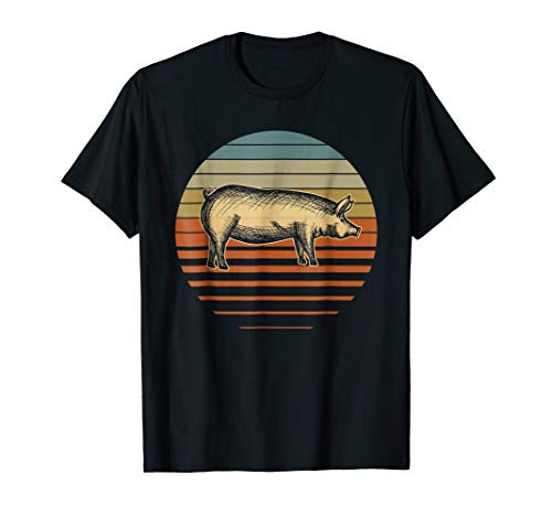 Retro Vintage Pig Farmer Piggy Shirt For Piglet Owner Lover for $<!--$16.99-->