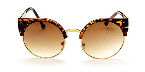 GAMT Fashion Vintage Sunglasses Retro Semi-Rim Round Unisex Desginer Style (Amber, - Versace Shades Vintage