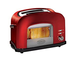 Nostalgia Electrics RWT500RETRORED Retro Series Window Toaster, Red