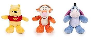 Disney - Pack incluye 3 peluches de 20cm Winnie the Pooh: Winnie & Tigger &