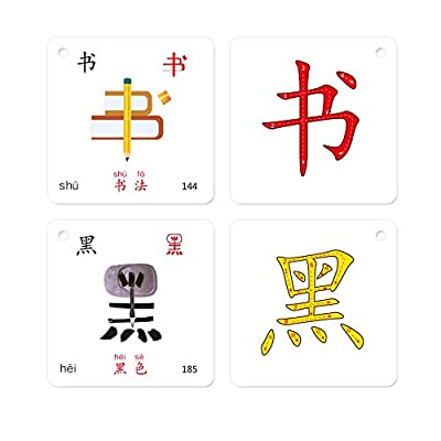 LELEYU Hieroglyphic Pictograph Symbols Chinese Learning Color Flash Memory Cards Mandarin Simplified Edition,252 Characters with Pinyin and Stroke Illustrations,Stage 1: Toys & Games