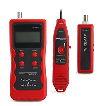 sonline NF de golpe Cable de red escaneado Tester Finder probador comprobador Red prueba Tensiómetro: Amazon.es: Electrónica
