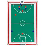 Magnetic Basketball Coaches Strategy & Tactic Board - 23.75'' x 16.75'' Premium, Double Sided Roll-Up Play Calling Clipboard, Full & Half Court View Sides, & 12 Magnets