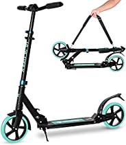 Joycruise Folding Scooter for Kids 8 Years and Up - Dual Suspension - 3 Adjustable Levels Handlebar,Shock Abso