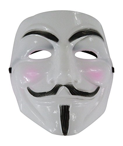 [Full Face Guy Fawkes V for Vendetta Political Cover Mask (White)] (Political Couple Costumes)