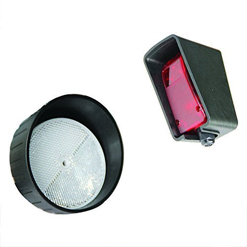 ALEKO Gate Opener Safety Reversing Reflective Sensors Photo Beam Infrared Sensor Reflector Photo Eye