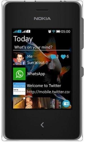 Nokia ASHA 500 DUAL SIM RM-972- UNLOCKED - BLACK