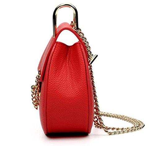 Moda Borse Red Borsa Zaino Catenella Messenger Tracolla Moda Catena adq85Bx