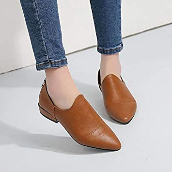talla 40 9f265 6f0ee HELUMTXM Pisos Zapatos de mujer Mocasines Cuero de PU ...