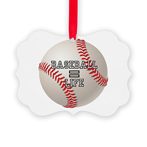 Picture Ornament Baseball Equals Life ()