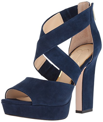 Jessica Simpson Women's Tehya, Celestial Blue, 11 Medium US (Platforms Jessica Leather)