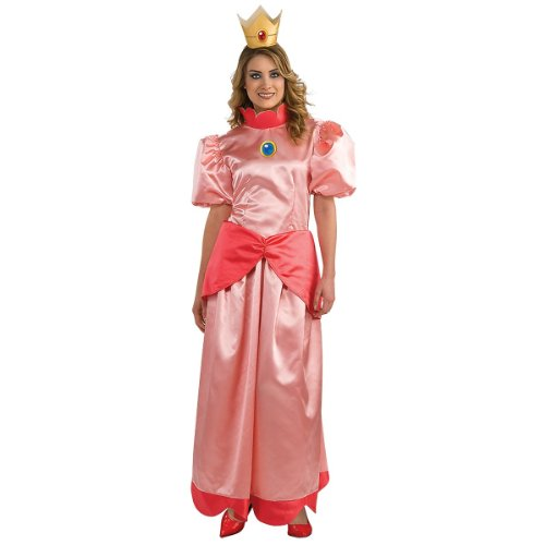 Toadstool Costume Mario (Mario Brothers Princess Peach Womens Costume (Small))