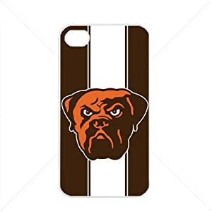 NFL American football Cleveland Browns Fans Apple iPhone 4 / 4s TPU Soft Black or White case (White)