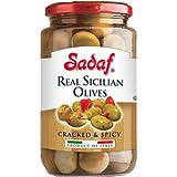 Sadaf Real Sicilian Olives - Cracked & Spicy 12 oz. ( Pack of 2 )