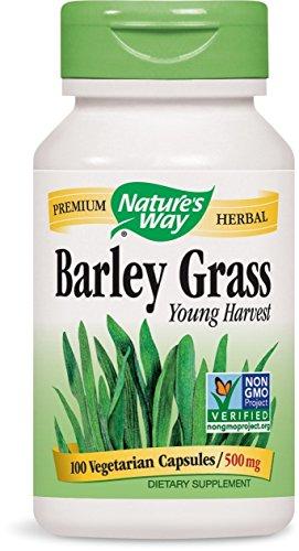 Barley Grass Capsules (Natures Way Barley Grass Capsule, 500 Mg - 100 capsules - 3 Pack)