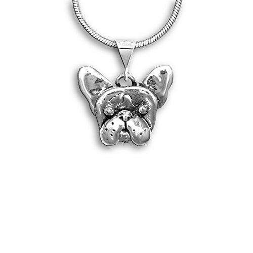 Sterling Silver French Bulldog Pendant by The Magic Zoo