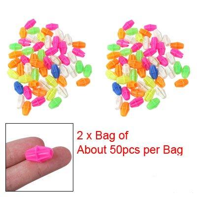 Como 2 Bag Colorful Plastic Clip Spoke Bead Bicycle Decor for Kid Bike