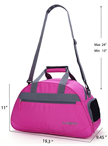 9b6f70801a8b MIER 20inch Sports Gym Bag Travel Duffel Bag with Shoes Compartment for  Women and Men (