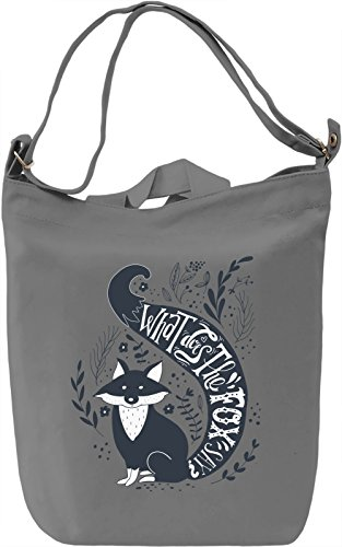 What does the fox say Borsa Giornaliera Canvas Canvas Day Bag  100% Premium Cotton Canvas  DTG Printing 