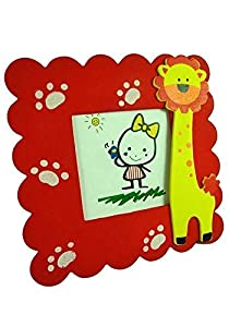 VNC Wooden Animal Design Photo Frame - Set of 6(Multi Color)