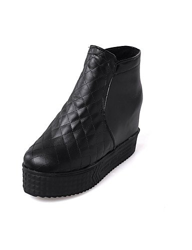 Negro us5 5 us5 Xzz Eu36 Vestido Uk3 Botas Plataforma De Semicuero White Blanco Botines Zapatos Cn34 Mujer Uk3 Cn35 Black Punta 5 Eu35 Redonda wUOqvwHr