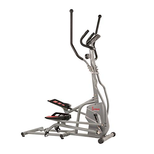 Sunny Health & Fitness Magnetic Elliptical Trainer Machine w/Tablet Holder, LCD Monitor, 220 LB Max Weight and Pulse Monitor – SF-E3810