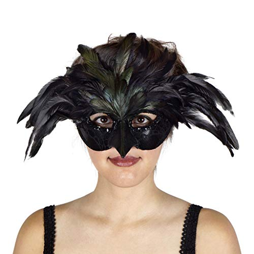 ZUCKER Raven Feather Mask - Black for $<!--$10.05-->