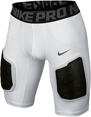 Nike Men's Pro Hyperstrong Compression Dri-FIT Football Padded Hard Plate Shorts (White, XL)
