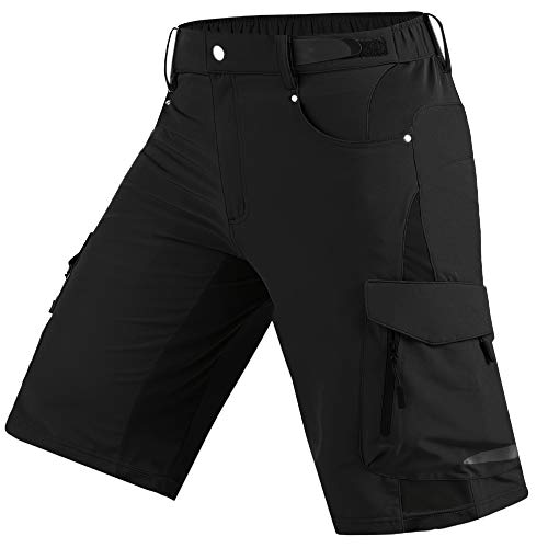 Cycorld Mens Mountain Bike Biking Shorts, Bicycle MTB Shorts, Loose Fit Cycling Baggy Lightweight Pants with Zip Pockets (Best Cycling Clothing Brands 2019)