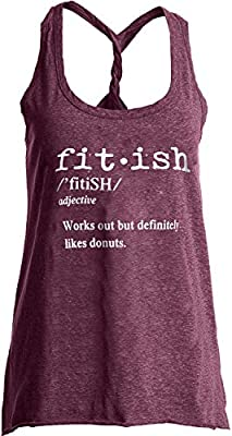 IRISGOD Womens Workout Tank Tops Summer Graphic Twisted Back Gym Sleeveless Tshirt Tops